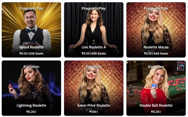 Screenshot of blackjack games at Purewin.com