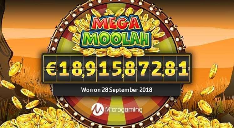 Biggest win in the traditional Mega Moolah slot