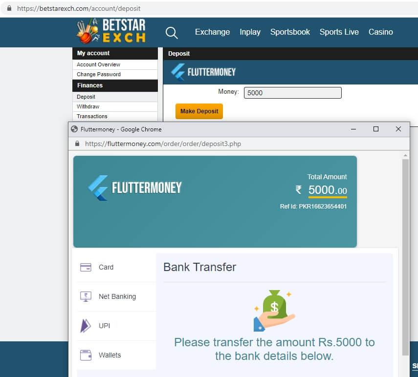 Fraudelent IMPS betting site