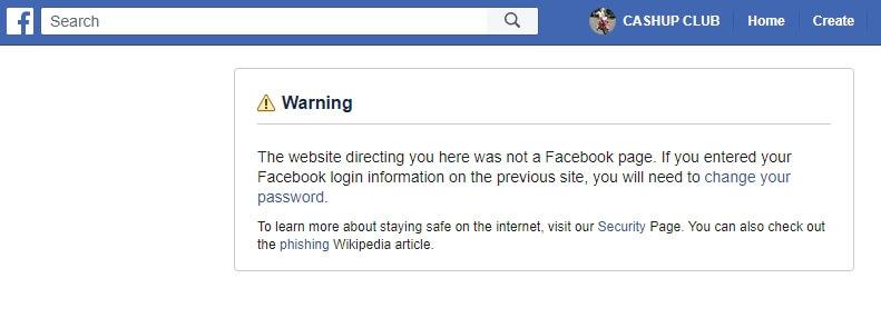 Fake IMPS gambling site redirects to Facebook
