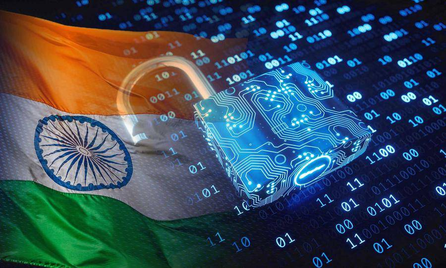 Indian flag and secure lock
